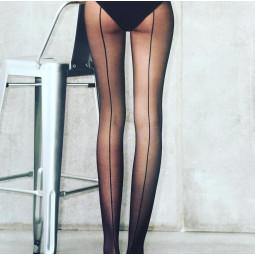 Panty costura trasera - Negro